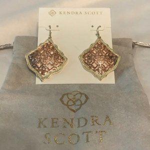 🆕Kendra Scott Kirsten Drop Earrings In Rose Gold